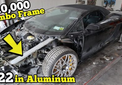 Rebuilding $10,000+ of Lamborghini Frame Damage Using $22 in Aluminum Bar & Harbor Freight Tools